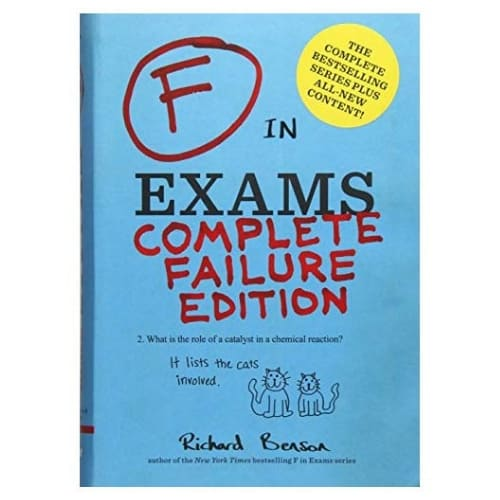 F in Exams Complete Failure Edition paperback teachergifts funny gifts iwantthisandthat2