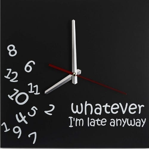 Wall clock for teachers office students gifts whatever im late wall clock iwantthisandthat2