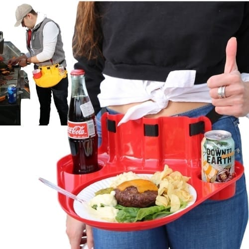 Hands Free Serving Tray tailgate family events outdoors party iwantthisandthat2