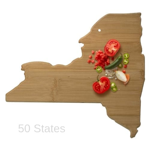 State Shaped Bamboo Cutting Board mothers gift gift for her christmas gifts iwantthisandthat2