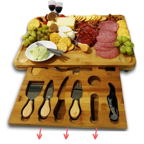cheese board with hidden knife drawer gift idea for her mom christmas iwantthisandthat2